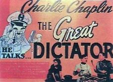 MOVIE POSTER~Charlie Chaplin In The Great Dictator 1940 Reproduction Hitler New~