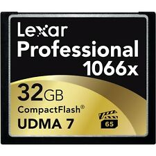 LEXAR 32GB PROFESSIONAL 1066X COMPACTFLASH 160MB CF MEMORY CARD FOR CAMERA