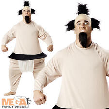 Sumo Wrestler Japanese Sports Uniform Fancy Dress Mens Costume Adult Outfit New