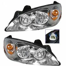 Headlights Headlamps w/ Amber Signal Left & Right Pair Set for 05-10 Pontiac G6