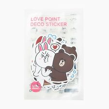 Korea LINE Friends Characters Cute Love Point Deco Stickers Mascot Gift