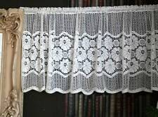 "Sara cotton lace window valance shabby chic vintage brise-bise 23"" sold per mete"