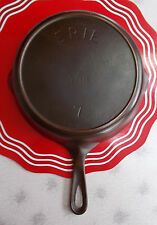 ERIE by Griswold Antique Cast Iron #7 Skillet P/N701H  C1905-1907 EXC Condition