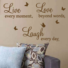 Live love laugh art mural citation stickers, wall decals, mots lettrage p4