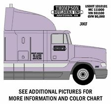 BAR & BOX Design SEMI TRUCK LETTERING & NUMBER DECAL KIT - FREE SHIPPING