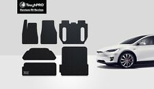 ToughPRO  Black Rubber For 2016 -2017 Tesla Model X 5 Seater Floor + Trunk Mat