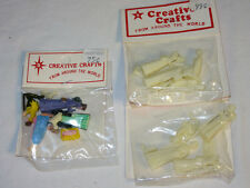 3 Sets Vtg NOS New Miniature Plastic Figures Xmas Nativity ivory & multicolor