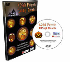 Over 1,200 Halloween Stencils & Patterns Designs For Pumpkin Carving on DVD