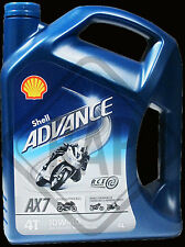 Shell Advanced AX7 4T 10w40 Semi Synthetic Motorbike engine oil 4 L NEXT DAY DEL