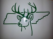 Deer Buck Hunting Tennessee TN car truck decal hunting sticker Many Colors Avail