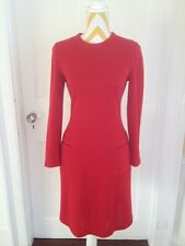 Vintage Mod Red Wool Dress by Tom and Linda Platt for Sakes Fifth Avenue size 6