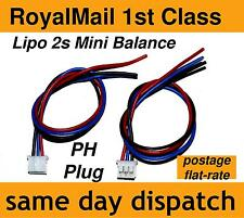 Lipo Balance Lead wire for small battery packs 2s PH male plug 2-cell 7.4V 26AWG
