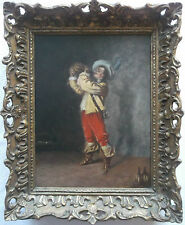 FRAMED DUTCH SCHOOL OIL ON BOARD PAINTING A STUDY OF A SOLDIER DRINKING WINE