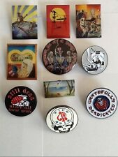 10 ASSORTED GRATEFUL DEAD - JERRY GARCIA RELIX PINS GREAT LOW PRICE!!