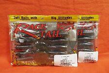 "STRIKE KING Rage Tail 4"" Rage Grub (10cnt/20tl)(2 pks) #RGGRUB4-18 Wat Red Flake"