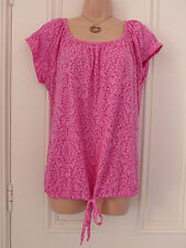 Original Essentials size 12 BNWT pink top with drawstring tie at bottom