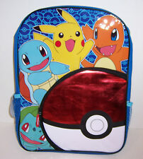 "NINTENDO POKEMON Large 16"" POKEBALL BACKPACK School Travel Bag Tote NEW!"