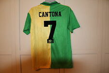 MANCHESTER UNITED NEWTON HEATH 1992 RETRO SHIRT CANTONA 7 MEDIUM NEW 38-40""
