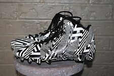 Adidas Crazyquick Mid Football Cleats - Black/White Men's Size 9.5 9 1/2