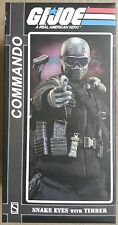 G.I.JOE 1/6 12-inch SIDESHOW COMMANDO Snake Eyes w Timber Dog GI Army Soldier