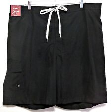 New with Tags! Merona Men's Black Polyester Swim Shorts Size M (32-34)
