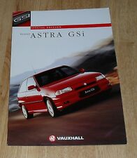 Vauxhall Astra F GSI 2.0 16v Special Edition Brochure 1996