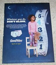 2011 print AD PAGE - Goodnites bedwetting diaper underpants cute girl ADVERT