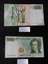 BANCONOTA LIRE 5000 BELLINI SERIE A FIOR DI STAMPA