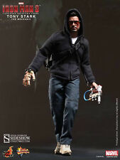 "Hot Toys Iron Man 3 TONY STARK (MECHANIC) 12"" Figure 1/6 Scale Robert Downey Jr."