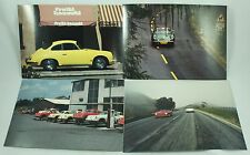 Classic Porsche White Red Yellow Green 356 SC Coupe Carrera Car Photo Print Lot