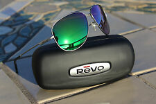NEW AUTHENTIC  REVO Windspeed Sunglasses Aviator Gunmetal/Green Water Lens