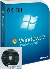 Windows 7 Professional CoA + Full OEM installation disc 64-bit SP1 +broken PC