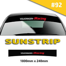 Sunstrip VW Transporter  Racing  Car Stickers Decal Graphics Windscreen