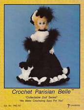 Parisian Belle, Td Creations Crochet Doll Clothes Pattern Booklet PRE-757