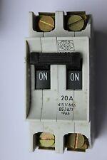 MK Sentry (Siemens) ln5960 tipo 2 20a DOUBLE POLE 2p MCB Mini interruttore automatico