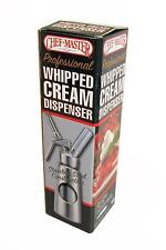 CHEFMASTER NSF STAINLESS STEEL WHIPPED CREAM DISPENSER - 0.5L / 1 PINT - 90062