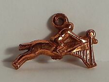 VINTAGE JUMPING JUMPER HORSE GUMBALL CHARM COPPER CLAD EQUESTRIAN