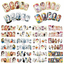 12 Sheets Nail Art Water Transfer Decal Stickers Fashion Girls BN265-276