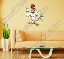 "Chicken Rooster Cock Sunglasses Cartoon Wall Sticker Room Interior Decor 22""X22"""