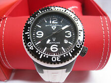NIB SWISS LEGEND Men's Neptune Black/White Dial Silicone Strap Watch