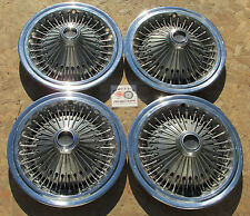 "1975-78 DODGE CHARGER, CHRYSLER LEBARON, PLYMOUTH, 15"" WIRE WHEEL COVERS HUBCAPS"