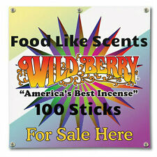 """30* Hand Dipped 11"""" Incense Sticks Wild Berry12 Assorted Food Scents Made in USA"""
