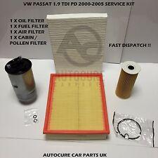 VW PASSAT 2000-2005 1.9 TDI PD DIESEL SERVICE KIT OIL AIR FUEL CABIN FILTER