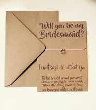 Bridesmaid Request, Will You Be My Bridesmaid? Wish Bracelet Gift Card