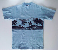 Vintage California T-shirt Cowboy Sunset Hanes Beefy-T size M 38-40 made in USA