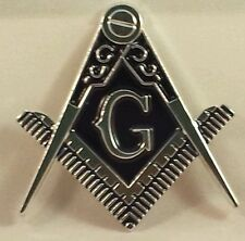 Masonic cut-out car emblem in silver & Blue (Part# CE 60)