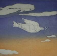 Surrealismus Objetivo Taube Friedenstaube Surreal Radierung 12/50 mit Signatur