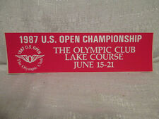 1987 US Open 87th Championship Olympic Golf Lake Course Sticker Scott Simpson