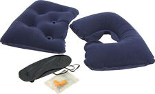 Neck Support Cushion, Lumbar Pillow, Eye Mask & Ear Plugs Comfort Travel Kit Set
