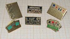 B1870/ LOT DE 6 PINS LOTO-TACOTAC (PAS COURANT)-TAPIS VERT / FRANÇAISE DES JEUX